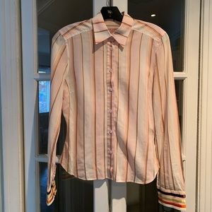 Ted Baker London striped long sleeve blouse. Size3